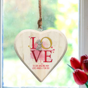 Me To You LOVE Hanging Wooden Heart