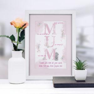 Me To You MUM A4 Framed Print