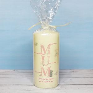 Me To You MUM Pillar Candle