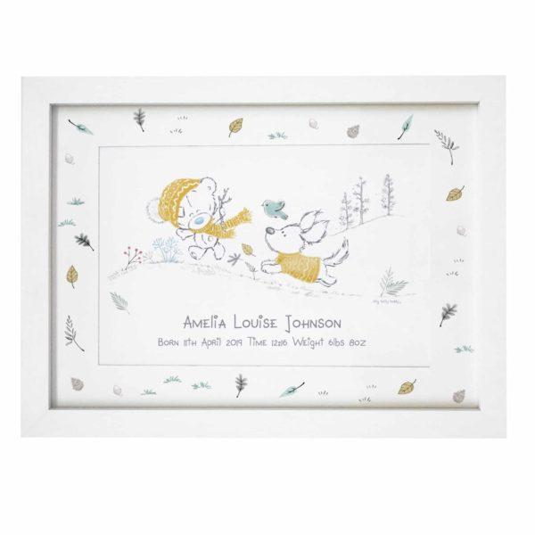Tiny Tatty Teddy Autumn Leaves A4 Framed Print