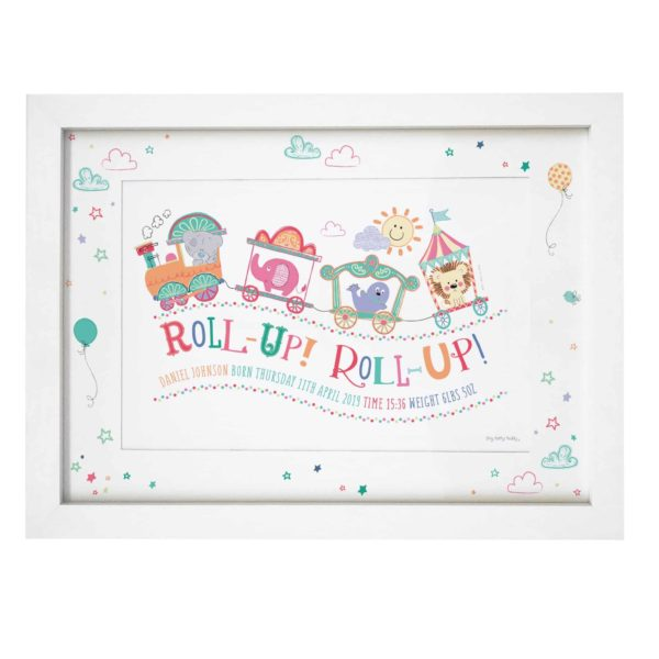 Tiny Tatty Teddy Little Circus Roll Up A4 Framed Print