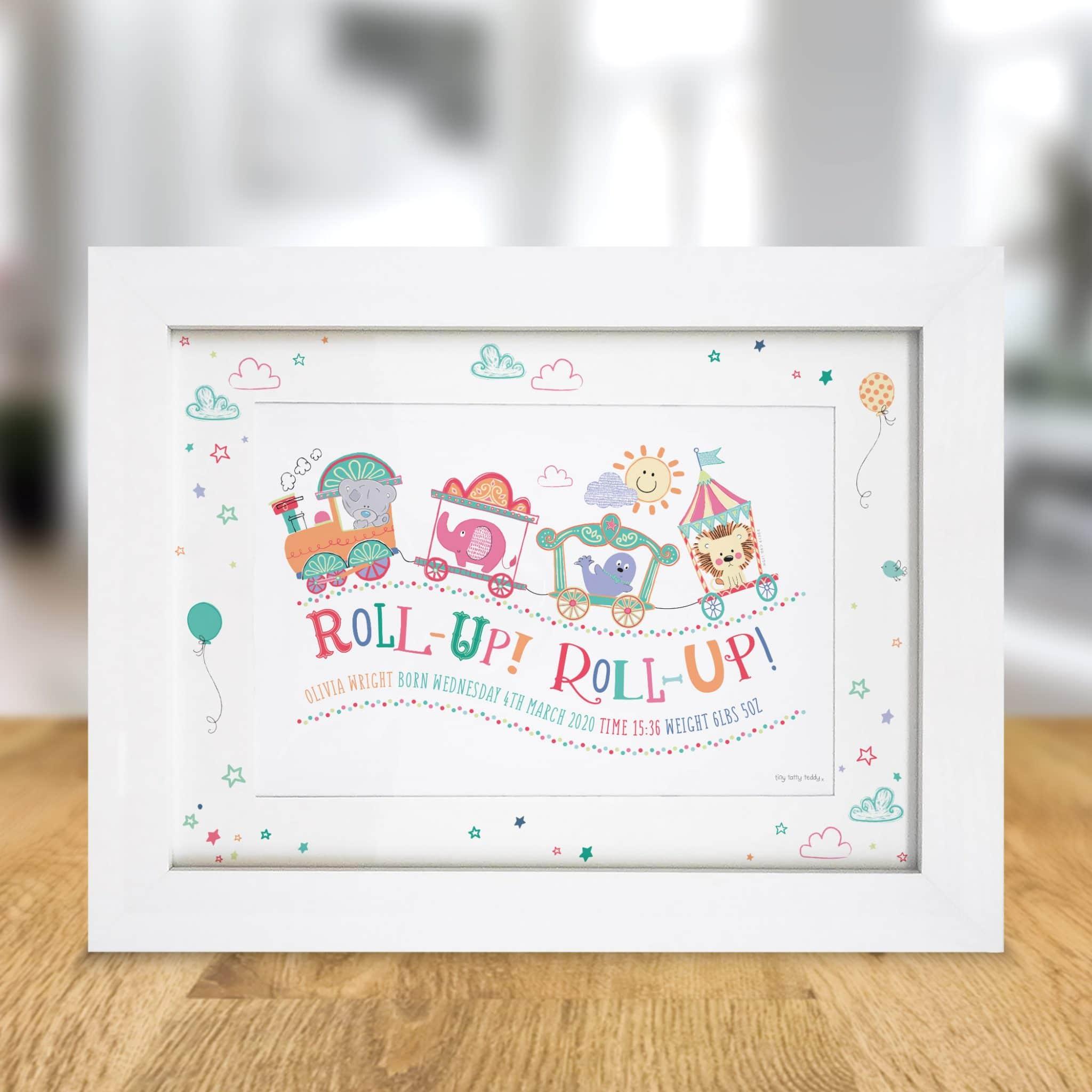 Tiny Tatty Teddy Little Circus Roll Up A4 Framed Print