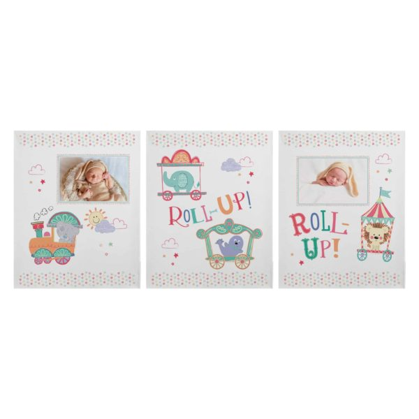 Tiny Tatty Teddy Little Circus Set of 3 Canvas'