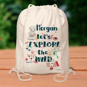 Me To You Let's Explore the Wild Drawstring Bag
