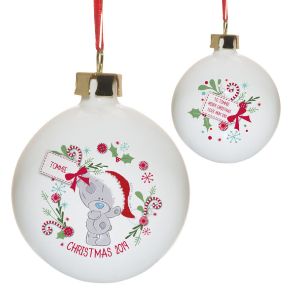 Me To You Christmas Wreath Bauble