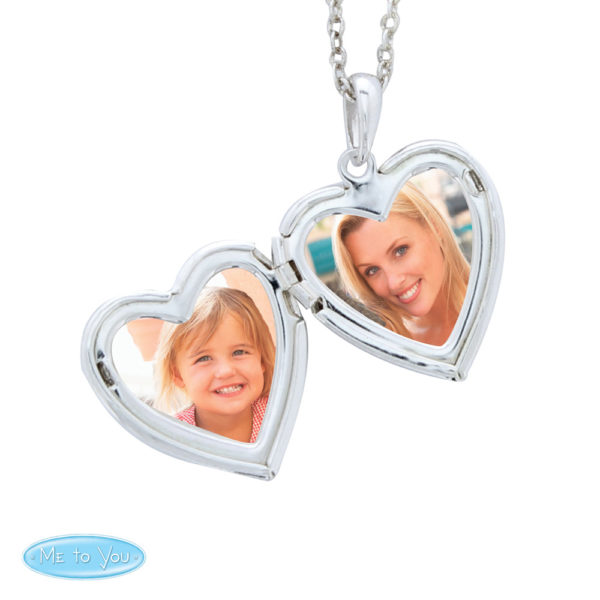 With Name Me To You Silver Tone Heart Locket