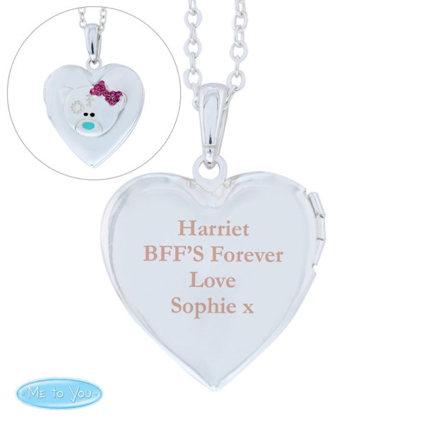 Message Me To You Silver Tone Heart Locket