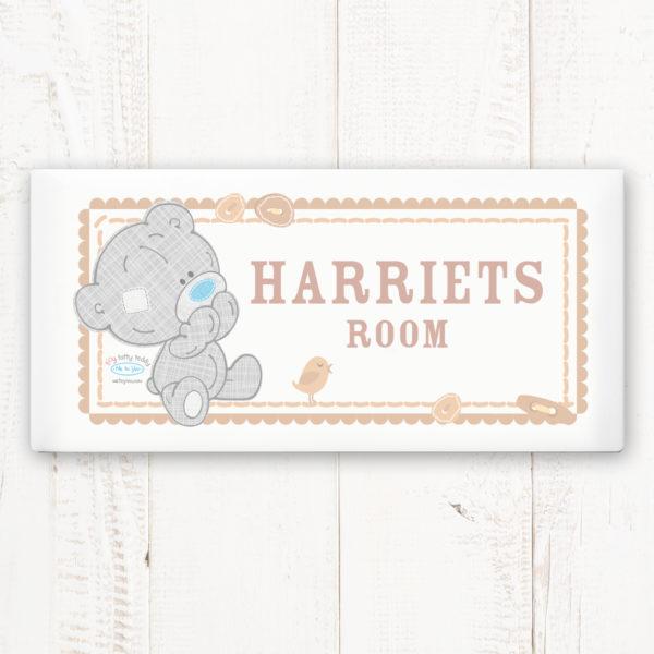 Tiny Tatty Teddy Door Plaque