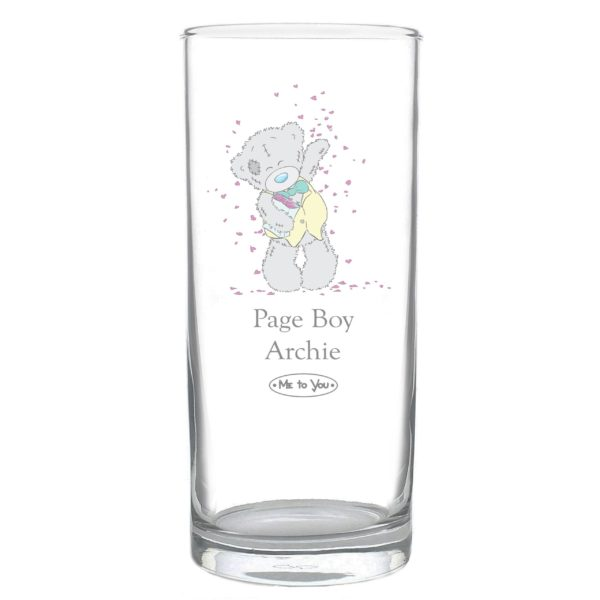 Me To You Wedding Male Hi Ball Glass