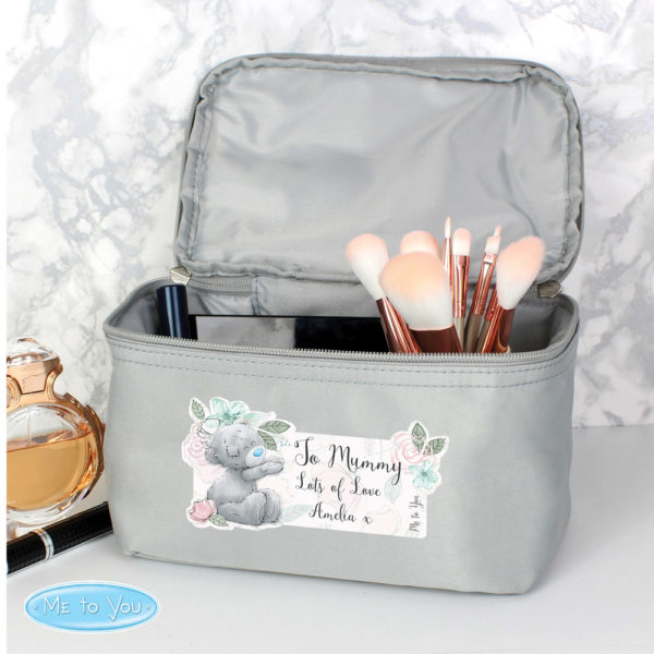 Me to You Floral Grey Make Up Wash Bag