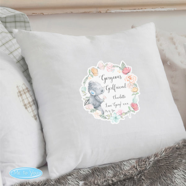 Me to You Floral Cream Cushion Cover