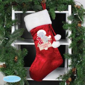 Personalised Tiny Tatty Teddy 'My 1st Christmas' Luxury Stocking