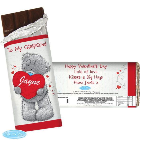 Me to You Big Heart Milk Chocolate Bar