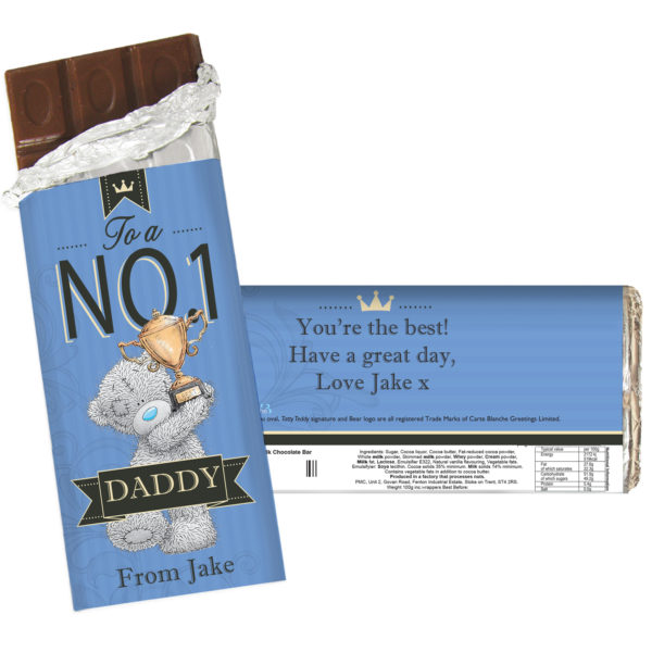 Me to You No 1 Milk Chocolate Bar For Him
