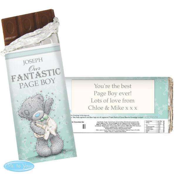 Me To You Male Wedding Milk Chocolate Bar