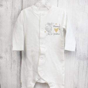 Personalised Tiny Tatty Teddy I Heart 0-3 Months Babygrow
