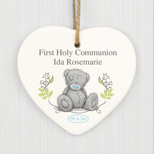 Me To You Religious Cross Ceramic Heart Decoration