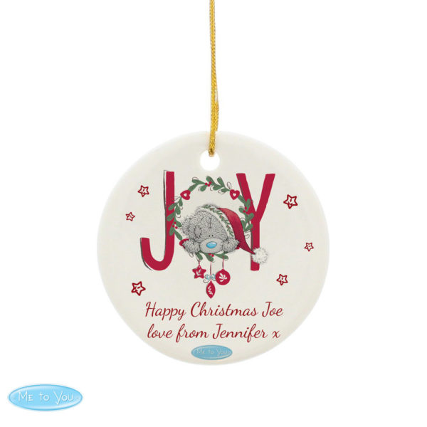 Me To You JOY Round Ceramic Decoration