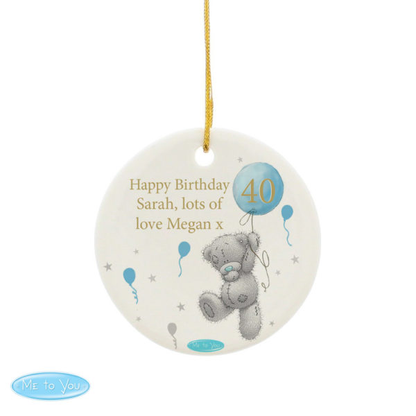 Me To You Balloon Round Ceramic Decoration