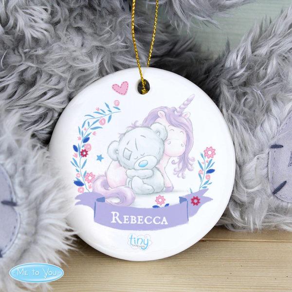 Tiny Tatty Teddy Unicorn Round Decoration
