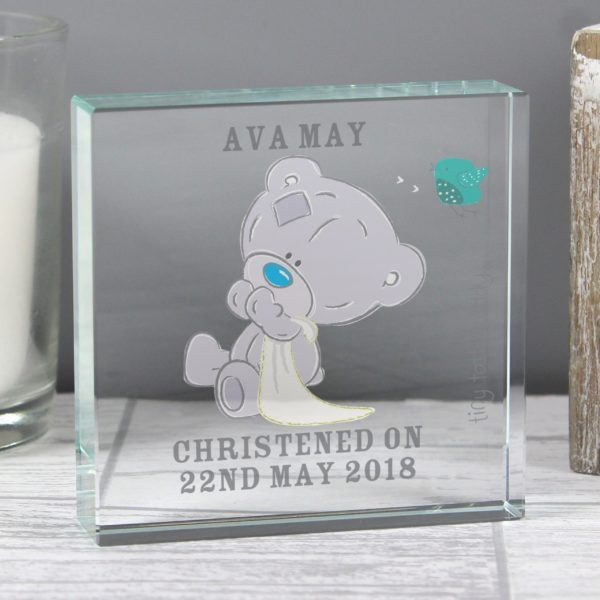 Tiny Tatty Teddy Medium Christening Crystal Token