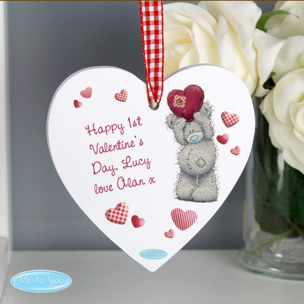 Me To You Heart Wooden Decoration