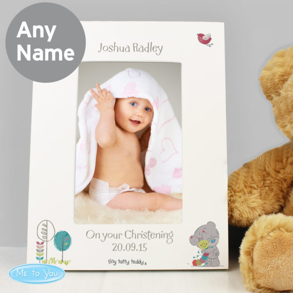 Tiny Tatty Teddy Cuddle Bug White 6x4 Frame