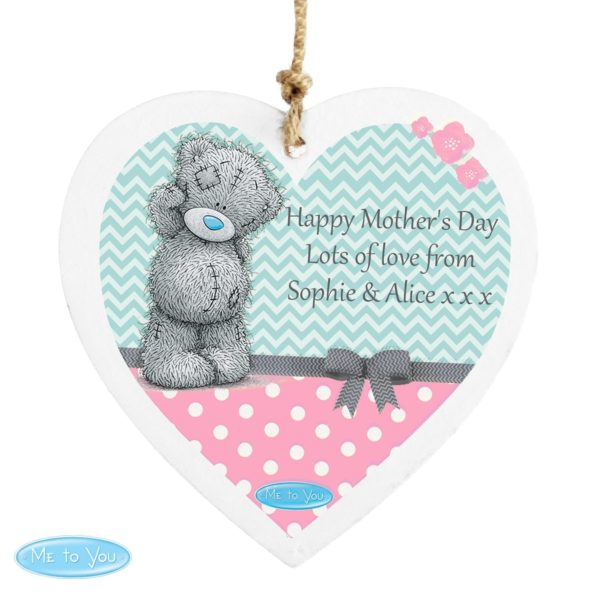 Me To You Pastel Belle Wooden Heart Decoration