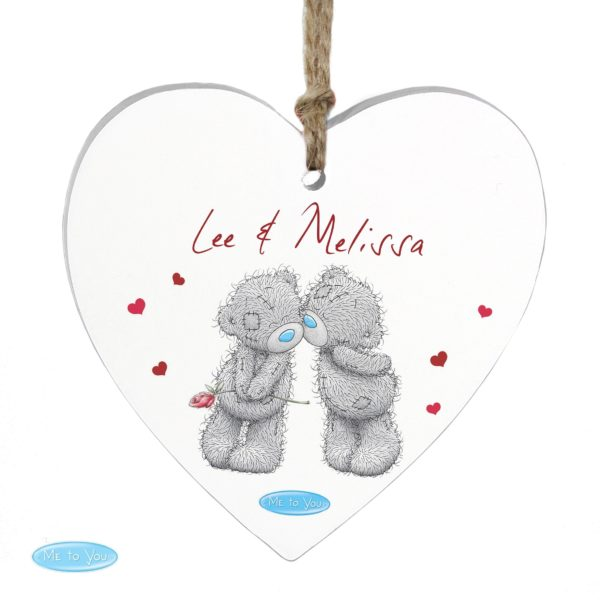 Me to You Couples Wooden Heart Decoration