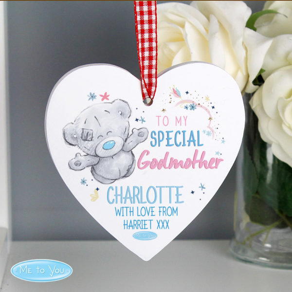 Me to You Godmother Wooden Heart Decoration